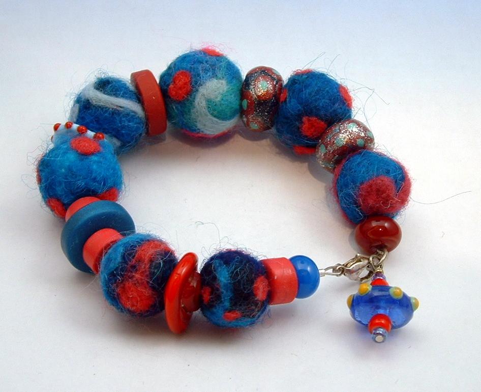 Felt bracelets 6