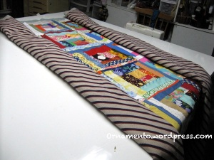 Folded for quilting