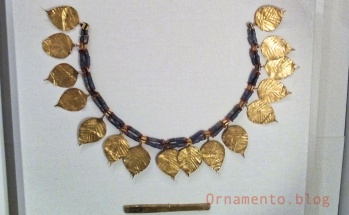 Hammered Gold and Lapis