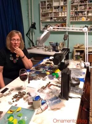 Patty in her studio